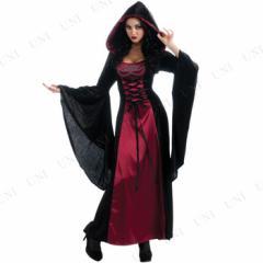 【送料無料】ゴシックフードローブ(ブラック&レッド) Std 仮装 衣装 コスプレ ハロウィン 余興 大人 魔女 コスチューム 大人用 女性用