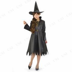 !! ブラックウィッチローズ 仮装 衣装 コスプレ ハロウィン 余興 大人 可愛い 魔女 コスチューム 大人用 女性用 レディース パーティーグ