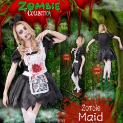 ! ZOMBIE COLLECTION Zombie Maid(ゾンビメイド) 仮装 衣装 コスプレ ハロウィン 余興 大人 ゾンビ メイド コスチューム 大人用 女性用