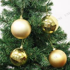 クリスマス ツリー オーナメント プラボール バラエティーゴールド 80mm 4ヶ入 クリスマスパーティー パーティーグッズ 雑