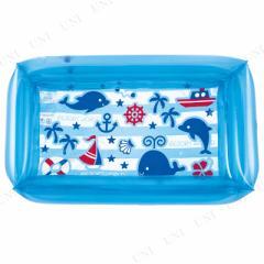 四角プール 100×60cm マリンブルー プール用品 ビーチグッズ 海水浴 水物 ビニールプール 家庭用プール キッズプール