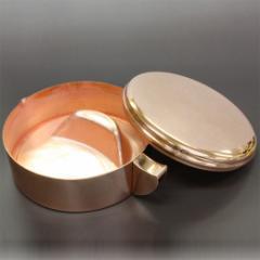 【開明】銅製 墨池 小