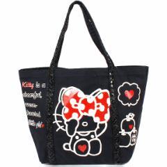 【ハローキティ】帆布トートバッグ スパンコール☆サンリオ ファッションバッグ&バッグ小物シリーズ