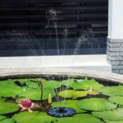 【送料無料】濾過装置搭載ソーラーパネル で省エネ☆ ソーラーミニ噴水スペシャルセット お庭のプチ噴水つくりに最適