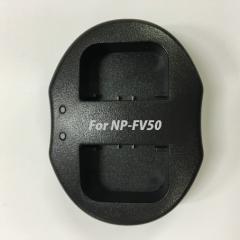【送料無料】SONY NP-FV50対応デュアルチャネル USBバッテリーチャージャー 互換2口同時充電可能USB充電器