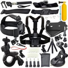 24in1 GOPRO HERO5/4/3+/3/2/1/SJ 4000 5000カメラ用アウトドアスポーツ アクセサリーセット