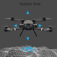【送料無料】Folding UAV Real 折り畳みドローン Wifi カメラ付き HDカメラサポートHDビデオ4軸ジャイロスコープ自動高さ保持☆QS005