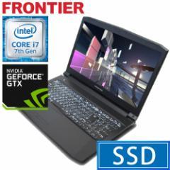 フロンティア ノートパソコン [Windows10 Core i7-7700HQ 8GB 275GB SSD  1TB HDD GTX1050] FRNZHM170G E11 【新品】【FR】