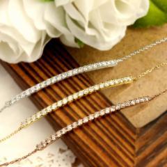 0.5ct ダイヤモンド ブレスレット K18WG / K18PG / K18YG  レディース プレゼント  送料無料