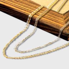 18金 ゴールド チェーン 単品 K18 あずき スクリュー 選べる各3カラー ネックレス チェーン  金属アレルギー 安心 レディース  送料無料