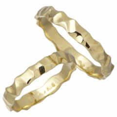 アイジェルナ Ijeluna リング 指輪 ペアー ゴールド K18イエローゴールドマリッジ 7〜13号11〜19号 HJ-011-012RGY-P