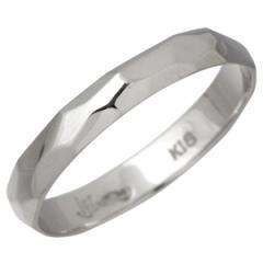 アイジェルナ Ijeluna リング 指輪 メンズ レディース ゴールド K18ホワイトゴールド 11〜19号 HJ-013RGW