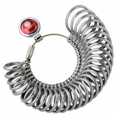 MKS明工舎 メイコーリングサイズ ゲージ リングゲージ 指輪ゲージ 指輪のサイズ測定機器 1〜30号 幅の細いリング用 全国標準規格