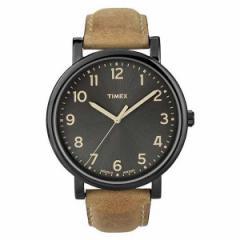 TIMEX タイメックス 腕時計 ウォッチ モダンイージーリーダーブラックサンレイダイアルオイルドレザーT2N677