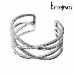 エレノアジュエリー Elenore Jewelry シルバー バングル レディース ブレスレット ワイドラップ ギフト プレゼント おしゃれ かっこいい