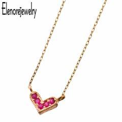 エレノアジュエリー Elenore Jewelry 10K ゴールド ネックレス レディース ルビー ハート ギフト プレゼント おしゃれ シンプル ELP0002