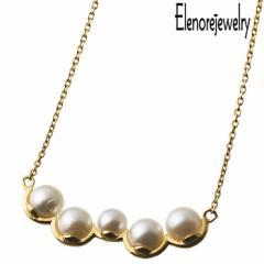 エレノアジュエリー Elenore Jewelry シルバー ネックレス レディース ランダム パール バー 真珠 ギフト プレゼント おしゃれ ELP0007