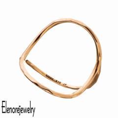 エレノアジュエリー Elenore Jewelry 10K ゴールド リング 指輪 レディース オープンサークル 9号〜11号 ギフト プレゼント おしゃれ シ