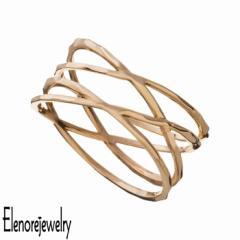 エレノアジュエリー Elenore Jewelry 10K ゴールド リング 指輪 レディース ラップ 9号〜13号 ギフト プレゼント おしゃれ シンプル ELR0