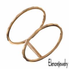 エレノアジュエリー Elenore Jewelry 10K ゴールド リング 指輪 レディース ダブル 9号〜13号 ギフト プレゼント おしゃれ シンプル ELR0