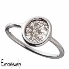 エレノアジュエリー Elenore Jewelry シルバー リング 1点物 天然スライス ダイヤモンド レディース 8号 10号 12号 ELR0035S ELR0035S