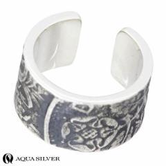 アクアシルバー AQUA SILVER シルバー イヤーカフ 6ペンス コイン 1個売り 片耳用 メンズ レディース ASEC005F