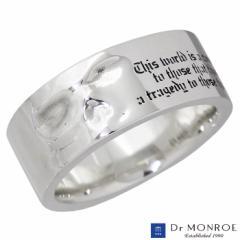 ドクターモンロー Dr MONROE シルバー リング 指輪 フロー スカル ドクロ 13〜23号 メンズ レディース FC-280-SV