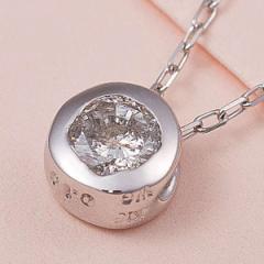 K18 WG 0.1ct ダイヤモンド フクリン ペンダント ネックレス メーカーより直送いたします ※沖縄・離島への配送はできません ds-121992