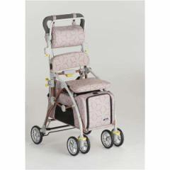 【フランスベッド】 ペットカート シルバーカー 【あずき】 ブレーキ 杖ホルダー付き 『ラクティブペット』 メーカーより直送いたします