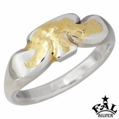 エフエーエル F.A.L FAL シルバー リング K18 メルティング シンプリズム クローバー 指輪 メンズ 1〜30号 FA-R-0130 送料無料