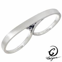 ジゴロウ GIGOR シルバー リング 指輪 サティーナダブルフレッジ メンズ レディース 5〜20号 G-DIAN series NO-411