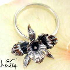 ケースミス K-SMITH バースデー フラワー シルバー リング 指輪 12月カトレア Birthday Flower Ring KF-RING-12