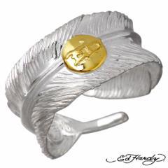 エドハーディー Ed Hardy フェザー シルバー リング 指輪 メンズ 羽根 EDFE-151