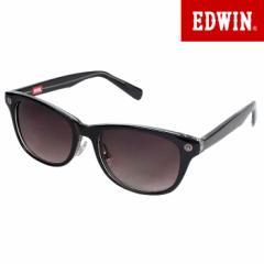エドウィン EDWIN サングラス UVカット カラーレンズ ウェリントン ブラック ED-041-2