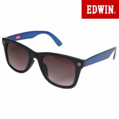 エドウィン EDWIN サングラス UVカット カラーレンズ ウェリントン ブルー ED-065-6