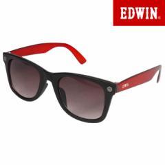 エドウィン EDWIN サングラス UVカット カラーレンズ ウェリントン レッド ED-065-7