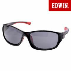 エドウィン EDWIN 偏光サングラス UVカット カラーレンズ スポーツモデル ブラック レッド EDF-076-1