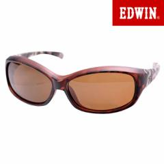 エドウィン EDWIN 偏光サングラス UVカット カラーレンズ スポーツモデル ブラック レッド EDF-076-8