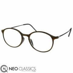 NEO CLASSICS ネオクラシック スキニー AGING glasses 老眼鏡 シニアグラス リーディンググラス ブラウンxブラック GLR-34-3