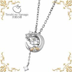 天使の卵 Tenshi no Tamago 童話の夜空 ダンシングストーン シルバー ネックレス ホワイトトパーズ 三日月 星 tenshi186WTCZRM