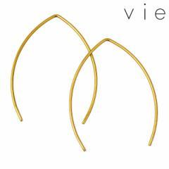 ヴィー vie ステンレス ピアス 金属アレルギー対応 シンプル 両耳用 2個売り レディース イエロー アレルギーフリー おしゃれ vie-P1253Y