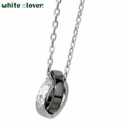 ホワイトクローバー white clover ステンレス ネックレス メンズ ハワイアンジュエリー ダイヤモンド アレルギーフリー サージカルステン