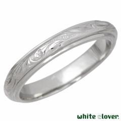ホワイトクローバー white clover ステンレス リング 指輪 レディース ハワイアンジュエリー プルメリア スクロール 7〜21号 アレルギー