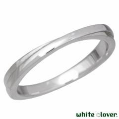 ホワイトクローバー white clover ステンレス リング 指輪 メンズ 13〜19号 アレルギーフリー サージカルステンレス316L 刻印可能 4SUR10