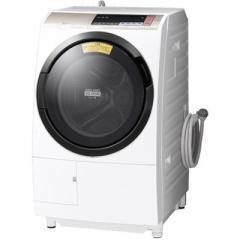 日立 BD-SV110BL-N 11kg/6kg ヒートサイクル風アイロン「ビッグドラム」スリムタイプドラム式洗濯機(シャンパン) (BDSV110BLN)