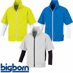 EFウエア 半袖 ビッグボーン コンプレッション袖付き半袖ジャケット 空調風神服 BK6059S 作業着 作業服 春夏