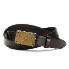 [即日発送]ドルチェ&ガッバーナ メンズ ベルト85サイズ/Dolce&Gabbana CINTURA ASTA DRITTA CUOIO SEMI ベルト ブラウン