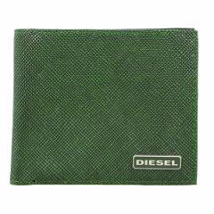 ディーゼル メンズ 二つ折り財布/DIESEL レザー 二つ折り財布 グリーン
