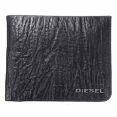 ディーゼル メンズ 二つ折り財布/DIESEL レザー 二つ折り財布 Black