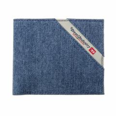ディーゼル メンズ 二つ折り財布/DIESEL デニム 二つ折り財布 Black/Blue Denim クリスマス